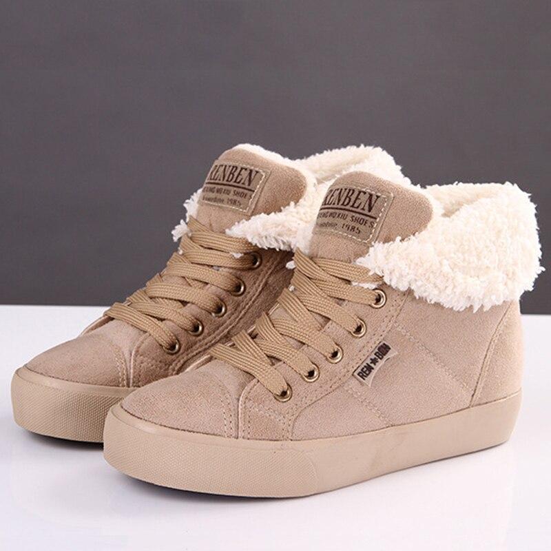 Женские ботильоны из флока зимние ботинки увеличивающие рост на плоской подошве