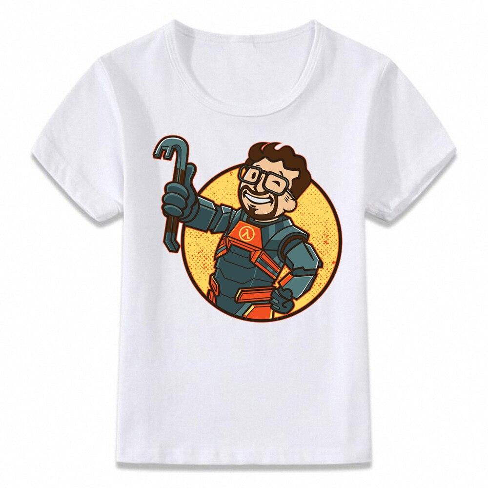 Ropa para niños camiseta Fallout Vault Boy Gordon Freeman Half Life camiseta para niños y niñas camisetas para niños pequeños