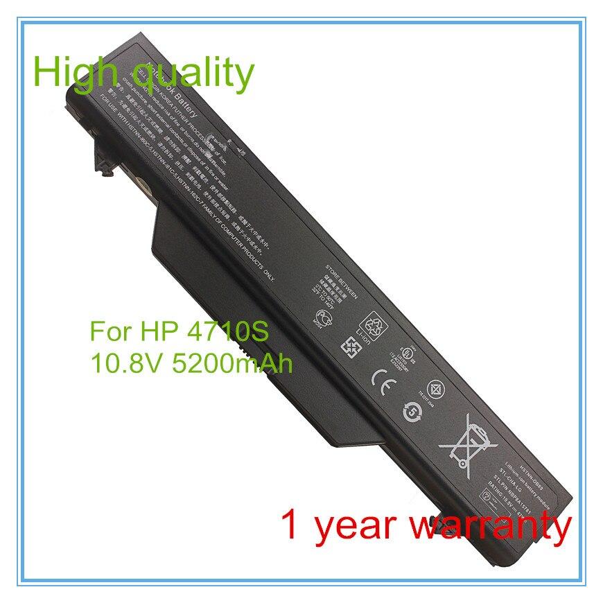 6 células de bateria para 591998-141 593576-001 HSTNN-1B1D HSTNN-OB89 HSTNN-IB89 ProBook 4510 s 4515 s 4710 s