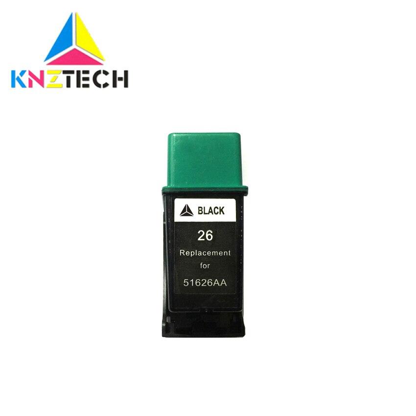 26BK 51626 cartuchos de tinta, cartuchos de repuesto para HP 26 XL 26XL HP26 HP26XL Deskjet serie 200 200cci 400 420c impresora 175