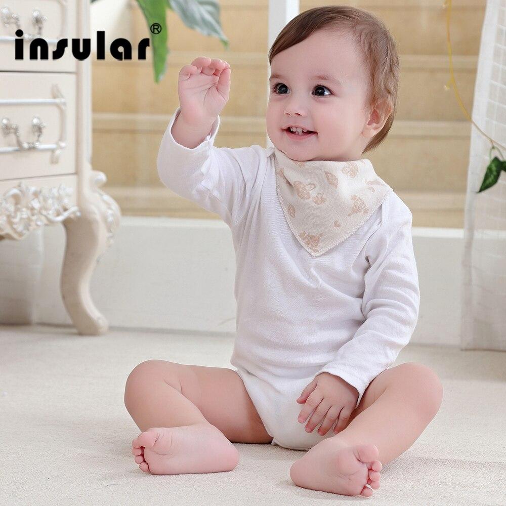Insular recién llegado color natural algodón recién nacido Baberos suave babero paño de eructo para bebés niñas niños babero bebés