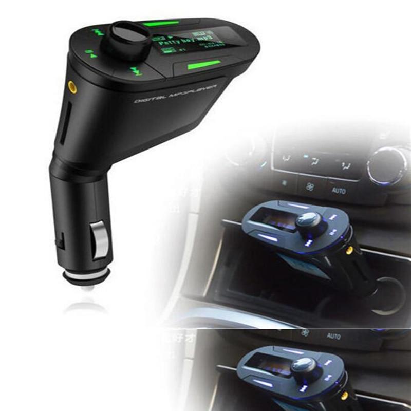 Neue Heiße Grün LCD Auto Kit MP3 Player Musik-Player Wireless FM Transmitter Modulator LCD USB SD MMC Licht Fernbedienung control