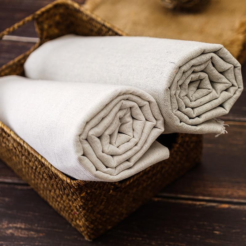 Искусственная льняная ткань шероховатое однотонное хлопковое белье ткань для шитья сумка для хранения и наволочка фоновая ткань