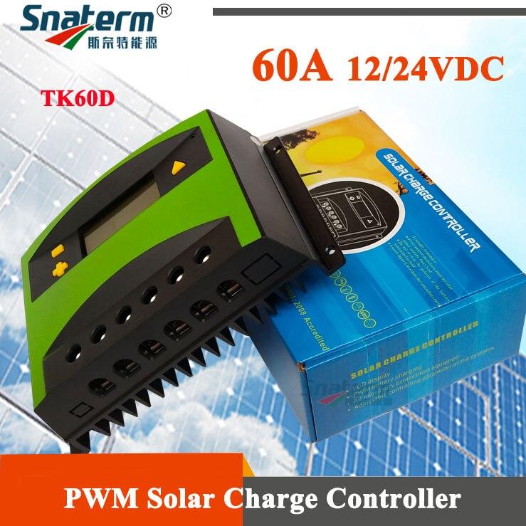 12 v 24 v 60a lcd controlador de carga solar 60a pv reguladores solares 12v24vdc 60 ampères solar pv carregador de bateria para 780 w/1560 w solar