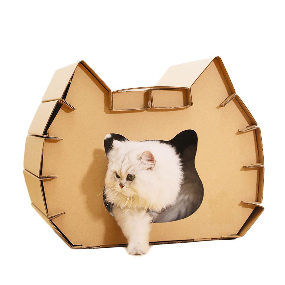 TPFOCUS Cute Cat Shape Corrugated Paper Scratching Nest Cat Toy Corrugated cat litter cat head corrugated paper 2019