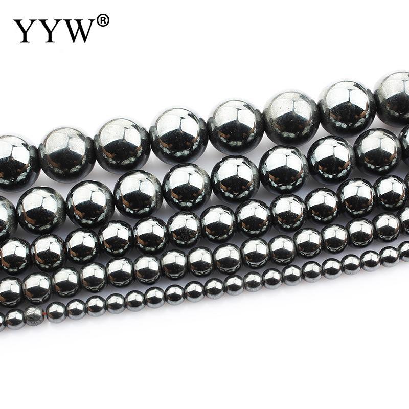 4mm 6mm 8mm 10mm 12mm Pedra Natural Grânulos de Hematita Rodada Contas Loose Para Pulseira DIY colar De 2018 Mulheres Acessórios de Jóias
