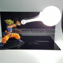 Dragon Ball Z Son Goku фигурка Супер Saiyan Kamehameha аниме Dragon Ball Z фигурки модель игрушки DBZ + лампа + база