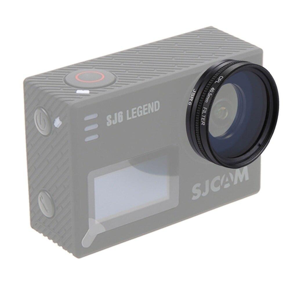 JSR-2056 4 en 1 40,5mm UV + CPL Kits de filtros de lente con adaptador de anillo + cubierta de lente para SJCAM SJ6