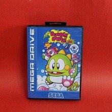 Super bulle Bobble carte MD 16 bits avec boîte de vente au détail pour le système de console de jeu vidéo Sega MegaDrive