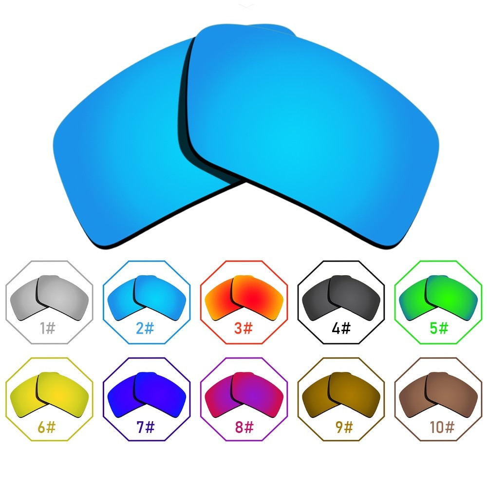 Polarized Replacement Lenses for Eyepatch 2 Frame - Many Colors Anti-reflective Anti-water Anti-scra