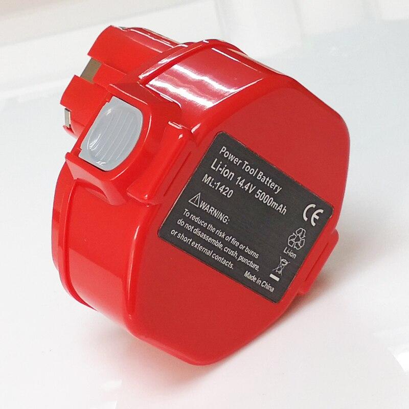 NEW 5.0ah 14.4V Rechargeable Li-ion Battery for makita cordless Electric drill screwdriver 033DZ 4332D 4333D 1051D 4033D 6381D