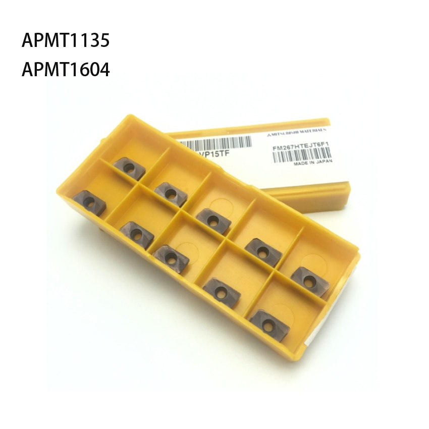 10 шт. APMT1135 H2 VP15TF карбидный фрезерный станок APMT1604 торцевая фреза токарные инструменты фрезерный станок для ЧПУ APMT1135PDER