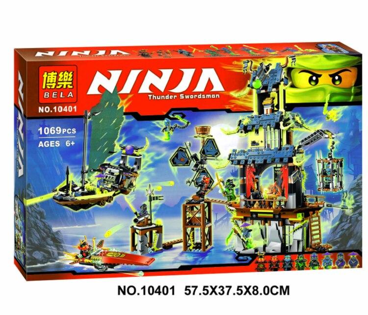 Bela 10401 Ninja figura bloques ciudad Ninja de Stiix maestros Spinjitzu figuras de acción juguete para niños