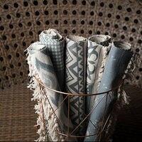 Bohemian Handmade Home Decorative Rugs Handmade Block Printed Carpet Floor Mat Modern Room Geometric Rug