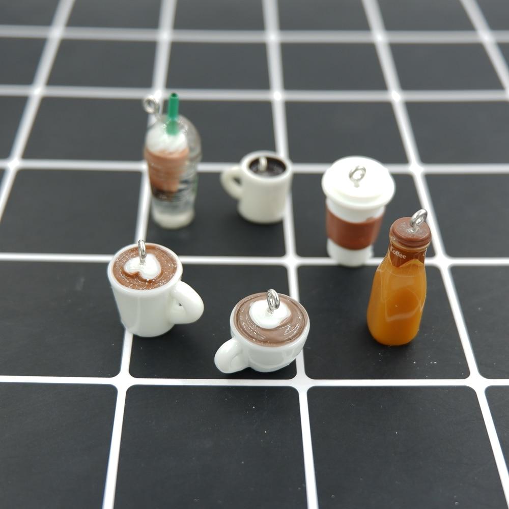Kawaii Coffee Charms Pendants for DIY  decoration bracelets necklace earring key chain Jewelry Making