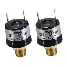 2Pcs 12V 120-150PSI Auf/Off Air Druck Control Switch für Onboard Air Systeme Horn Kompressor
