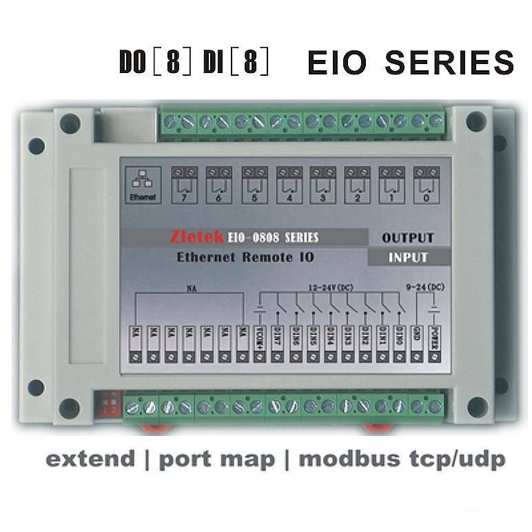Módulo de relé Ethernet programable, i/o remoto, red P2P PLC Control lógico, Modbus RTU TCP MQTT HTTP servidor WEB, Analog PT100