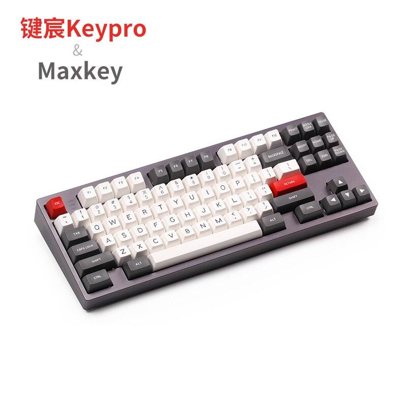 MAXKEY, base doubleshot, ABS, SA, juego de teclas de perfil para teclado mecánico DIY