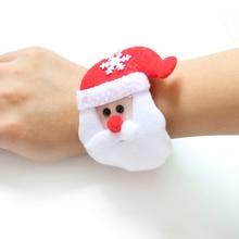 Père noël bonhomme de neige cerf nouvel an fête jouet 1PC noël Patting cercle Bracelet pour montre noël enfants cadeau