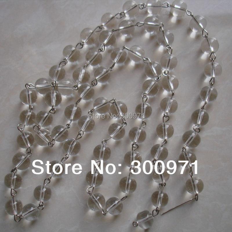 50 Mt/los, glas 10mm perle strang ketten/Glas Kristall Garland perlen Strang