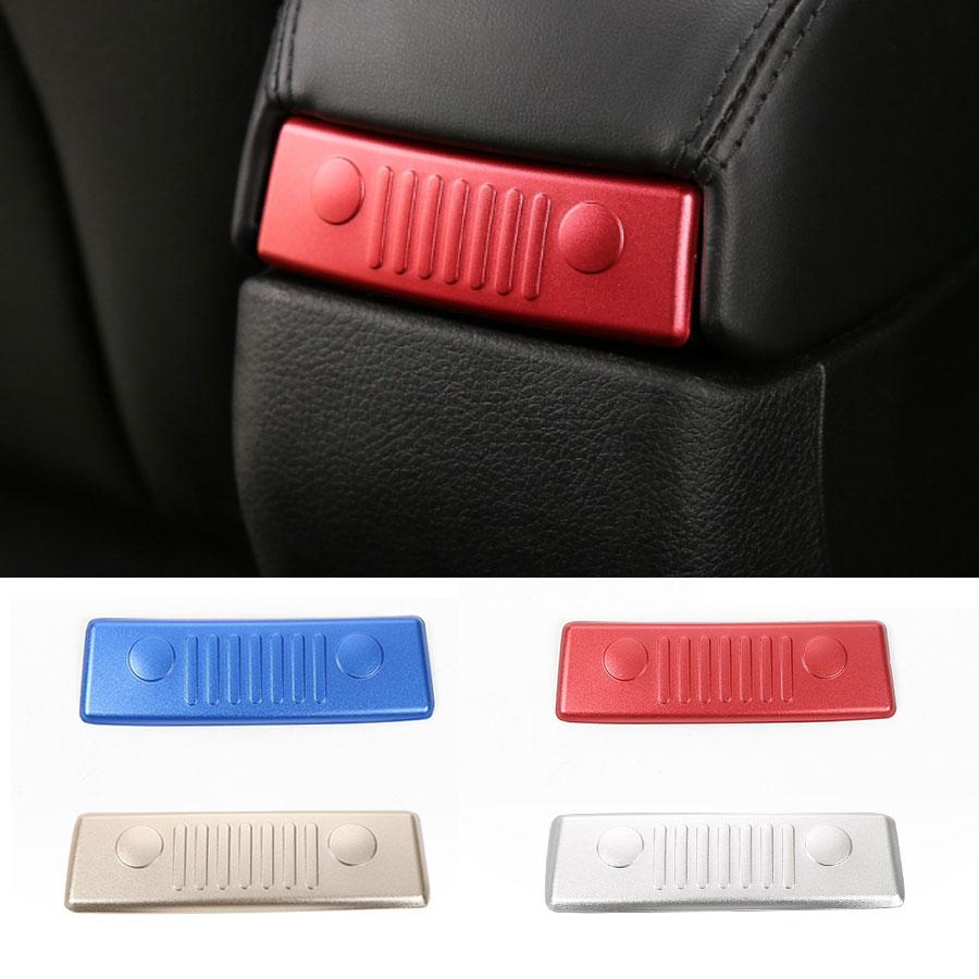 Samochód stylowy podłokietnik Box naklejka dla Jeep Renegade 2015 up Aluminium przednia twarz wzory powrót dekoracyjne pokrycie wykończenia panelu