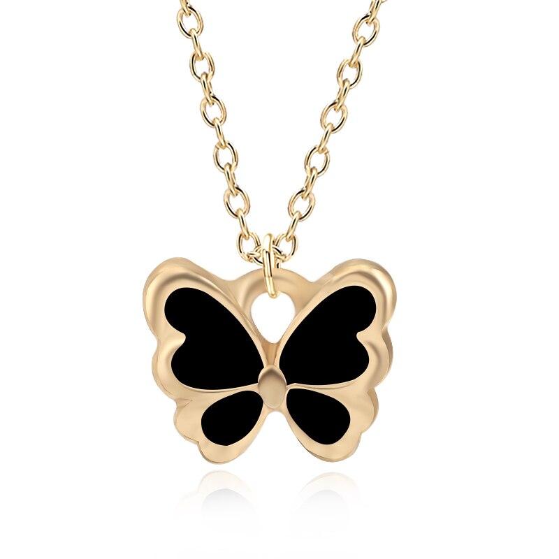 Diy dos desenhos animados minúsculos borboleta encantos colar adorável animal corrente de ouro gargantilha colares moda jóias feminino acessórios colares