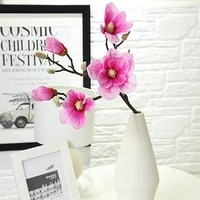 magnolia flower artificial flowers orchidea real touch orchidate latex orchid home wedding decoration flowers table centerpieces