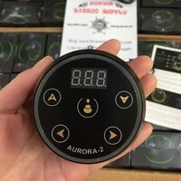 aurora power supplies mini lcd screen with power adapter tattoo power for coil and rotary tattoo machine 2 5a