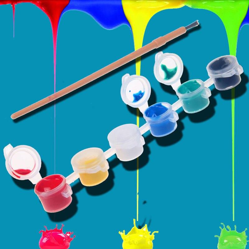 12/8 видов цветов с 1 краской, синие кисти в наборе, акриловые краски для масляной живописи, одежда для дизайна ногтей, цифровой DIY граффити, пигмент