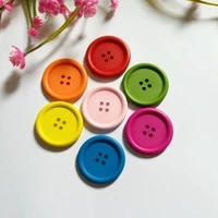 10pcslot 40mm 4 holes big wooden buttons garment accessories sewing buttons for crafts scrapbooking decorative buttons