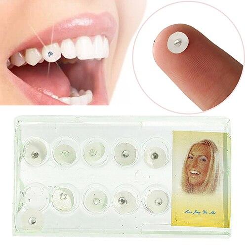 Cristal de imitación brillante para dientes dentales, adorno de joyería Dental para blanquear los dientes