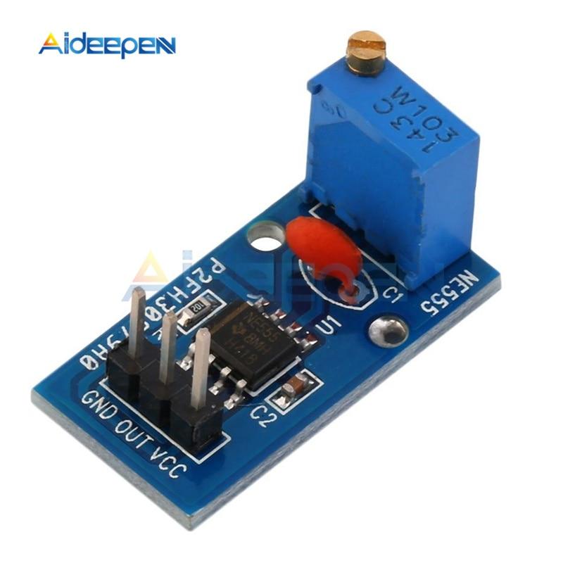 10 unids/lote DC 5V 12V NE555 generador de pulso ajustable resistencia frecuencia módulo generador de señal salida de un solo canal