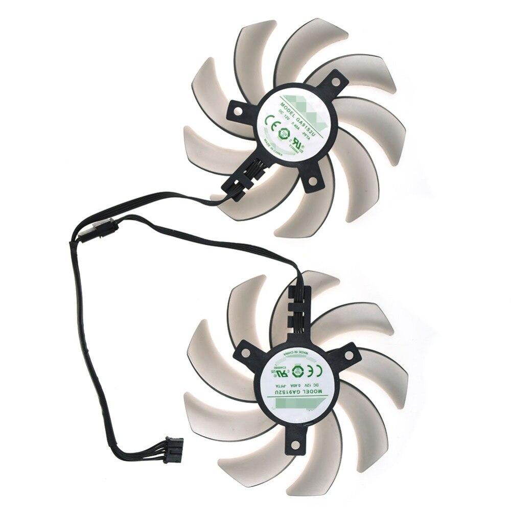 Ventilador de enfriamiento de la tarjeta gráfica para APISTEK GA91S2U-PFTA 0,40a 4pin, ventilador enfriador procesador de 86mm para ordenador
