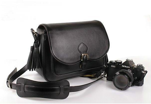 Waterproof PU Leather Black DSLR SLR Camera Case Bag For Nikon Canon Sony Fuji Pentax Olympus Leica Outdoor Bag Photograph Bag