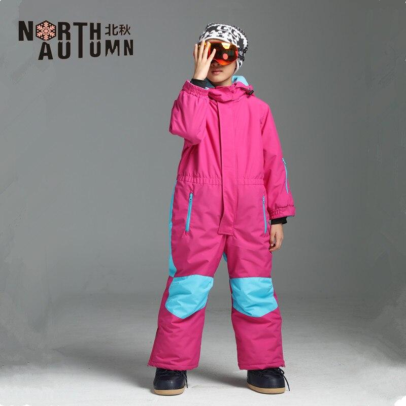 Winter Suit Girls Ski Suit Boys Waterproof Snow Romper Kids Overall Windproof Ski Jumpsuit Snowboard Jacket Sport Suit Kids Snow