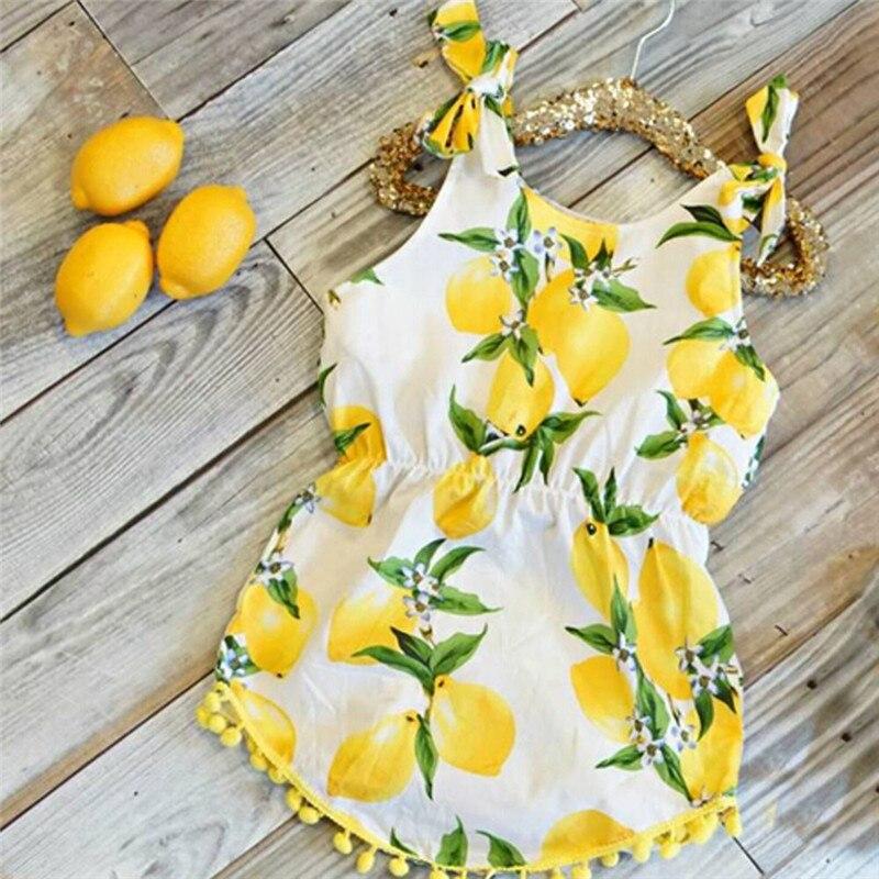 Vestido bonito de princesa con estampado de borlas de limón para bebés y niñas vestidos infantiles para niñas Dropshipping Mar22