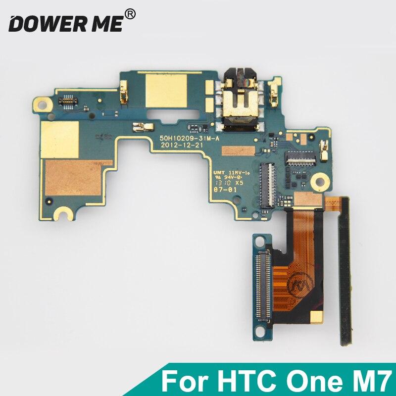 Dower Me Audio Jack botón de volumen vibrador conector placa base Cable flexible para HTC One M7 Single SIM versión reemplazo