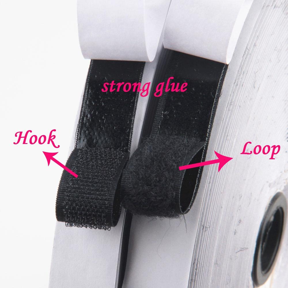 Velcros-Cinta adhesiva de cierre autoadhesivo, 25/16/20mm x 1M, Adhesivo de nailon mágico,...