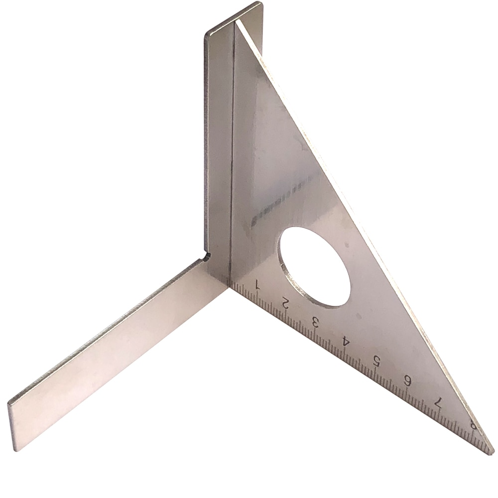 Regla para carpintería de acero inoxidable, mitón de diseño cuadrado, viga triangular, herramientas de medición calibrador métrico de 45 grados y 90 grados