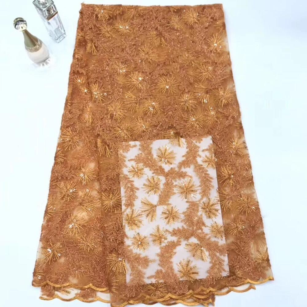 Tela de malla de lentejuelas Africana nueva ropa de fiesta transparente brillante de plata tela India Sari bordado Tissu tecidas (FJ-619