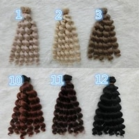 50pcslot wholesale new curly bjd wig hair diy natural color synthetic doll hair accessories