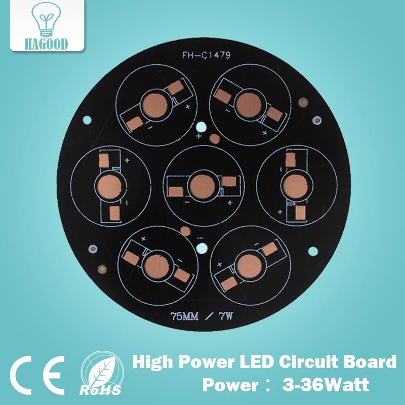 3W 5W 7W 9W 12W 15W 18W 24W 30W 36W LED de aluminio/placa/de alta potencia LED placa de circuito/placa de calor PCB