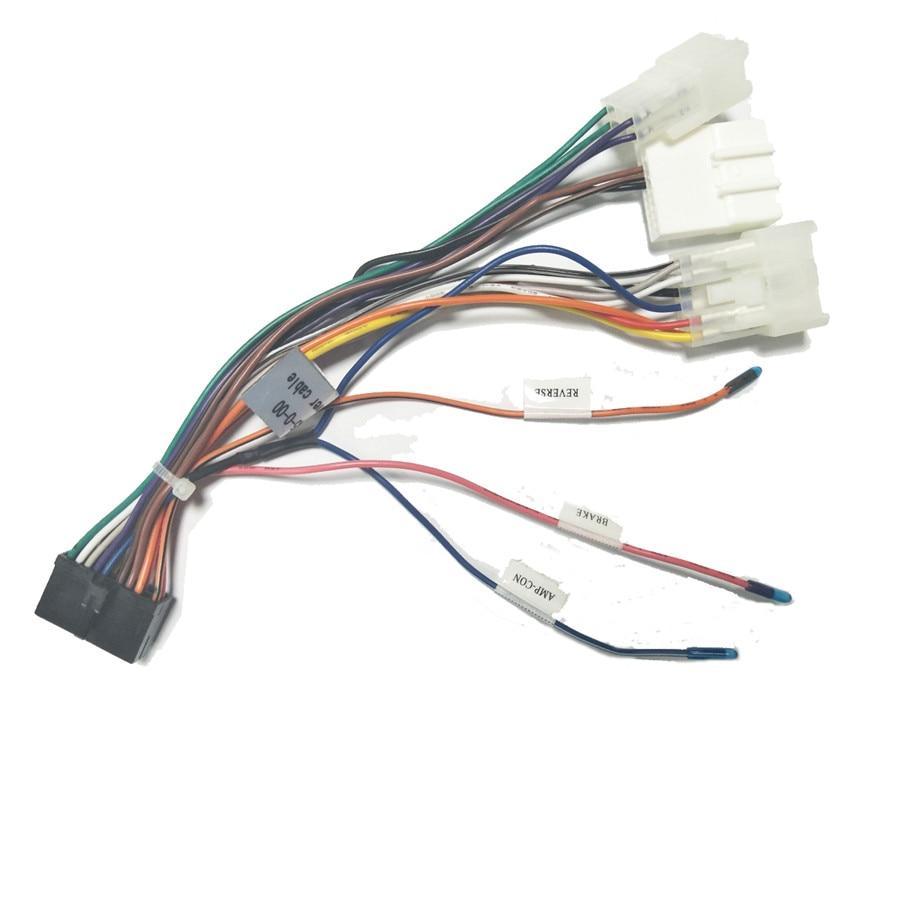 Adaptateur de connecteur de faisceau de câblage stéréo de voiture 20 broches 1/2DIN harnais de câble dalimentation Android pour Toyota