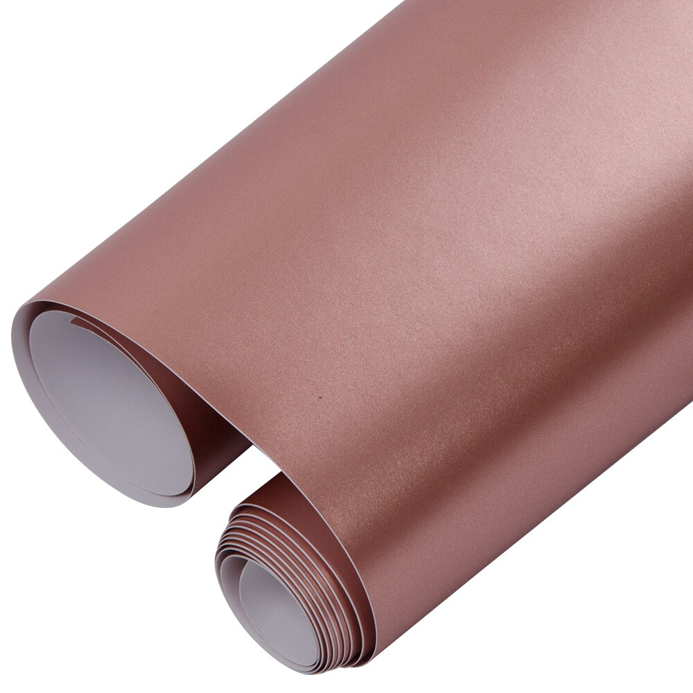 Sunice Car Styling Rose Gold Lightning Metal Film Wrap Car Vinyl Film Self-adhesive Sticker Decals Waterproof/Decoration
