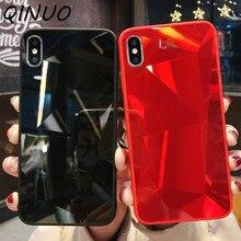 3D holográfico láser caso para iPhone 6 6s 7 8 Plus X Xs X Max XR brillante de diamantes de cristal prisma suave borde Telefon kilifi cubierta Funda