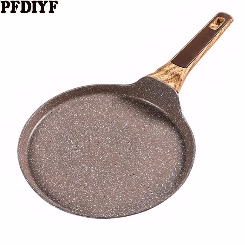 22-26 см медицинский камень антипригарная сковорода Многослойные торты для тортов, блины для крепинок плоская сковорода для завтрака омлет п...