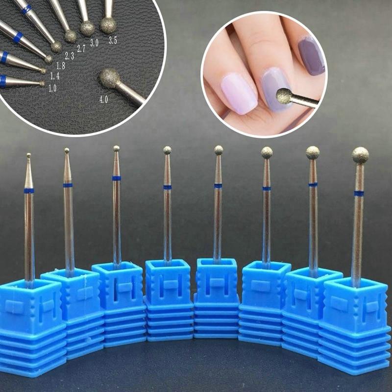6 размеров алмазное сверло для ногтей Маникюрный Электрический инструмент для дизайна ногтей кутикула для очистки шлифовального фрезерова...