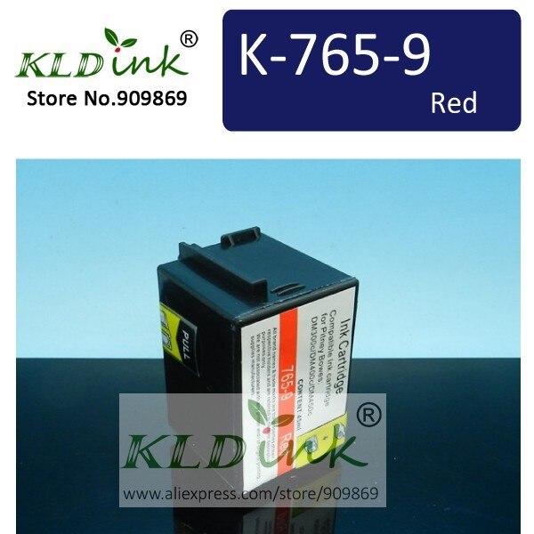 Compatible 765-9 765-9RN 765-9SN tinta roja del franqueo para Pitney Bowes DM300c DM400c DM450c máquina de franqueo