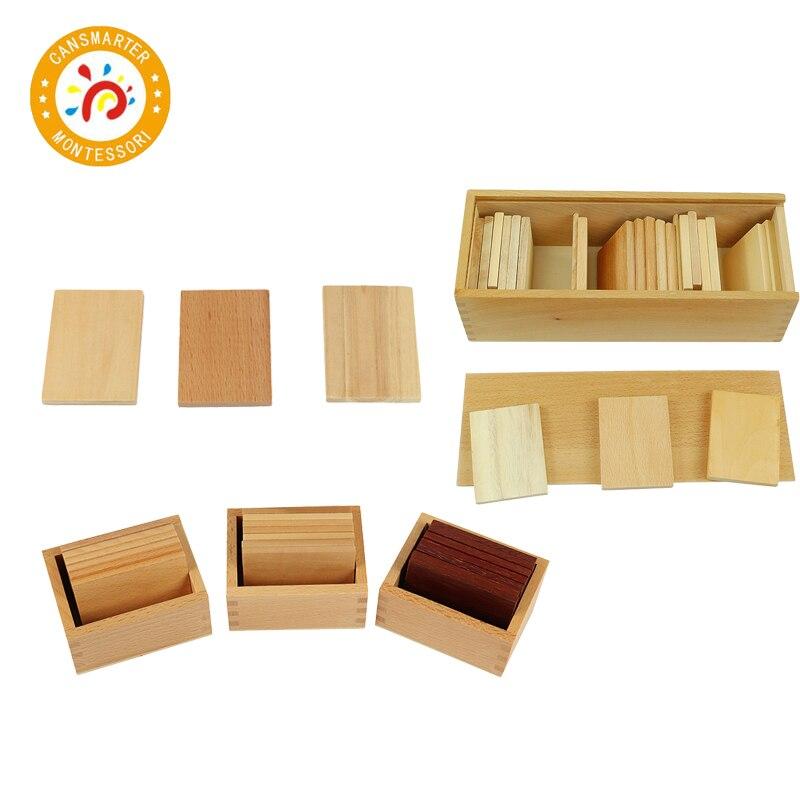 Деревянные игрушки Монтессори, учебные пособия, бариковые планшеты с коробкой, сенсорная игрушка