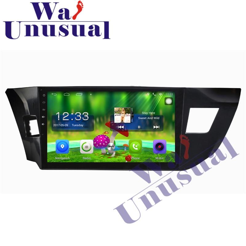 Reproductor de Radio para coche WANUSUAL de 10,1 pulgadas Android 6,0 navegación GPS para Toyota Levis 2014 bajo con BT WIFI Quad Core 16G 1024*600 mapa